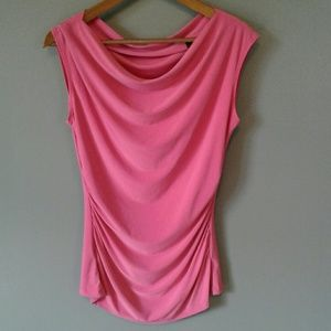 THE LIMITED Drape Front Sleeveless Pink Blouse